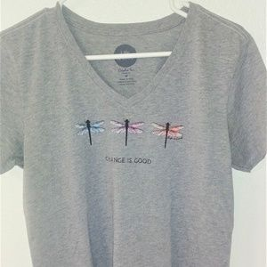 Life Is Good Tops - Life Is Good gray t-shirt
